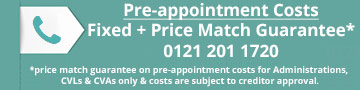 Company Administration - Pre-appointment Costs